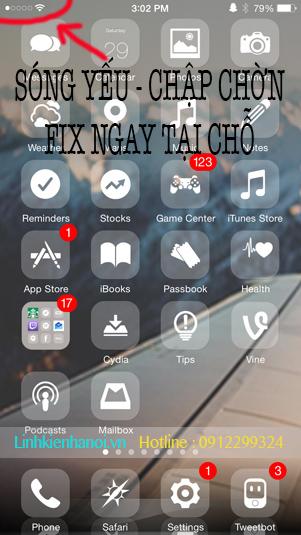 Sửa IPHONE 6 -6 PLUS sóng yếu|sửa iphone 6 sóng chập chờn,MẤT 3G