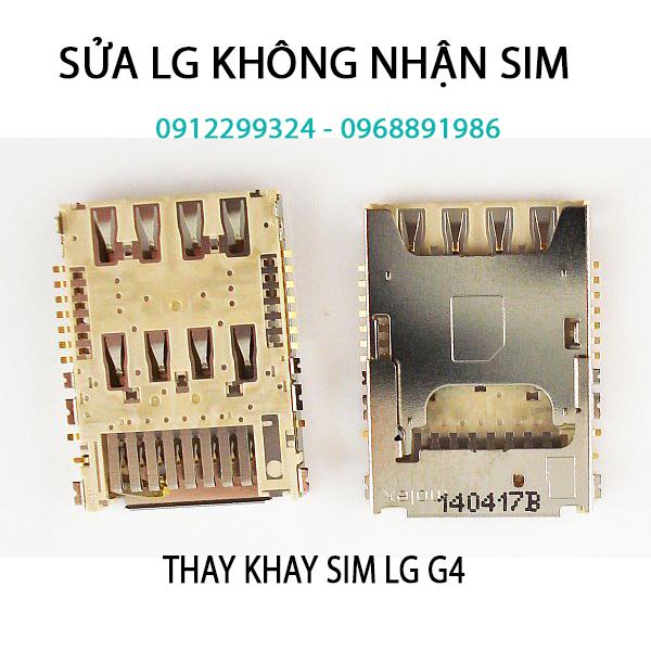 Thay khay sim LG g2 g3 g4 chính hãng tại Hà Nội