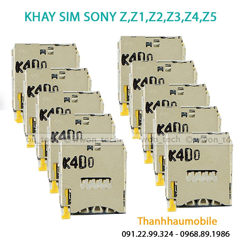 Khay sim Sony Z,Z1,Z2,Z3,Z4,Z5| sửa Sony hỏng khay sim giá rẻ ở Hà Nội