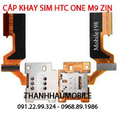 Cáp sim Htc One M9, cụm khay sim M9, ổ sim Htc M9, Khe cắm sim Htc M9