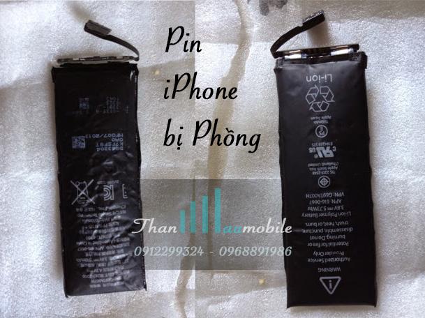 PIN IPHONE 5 BỊ PHỒNG, khắc phục lỗi pin iphone 5 bị phồng rộp