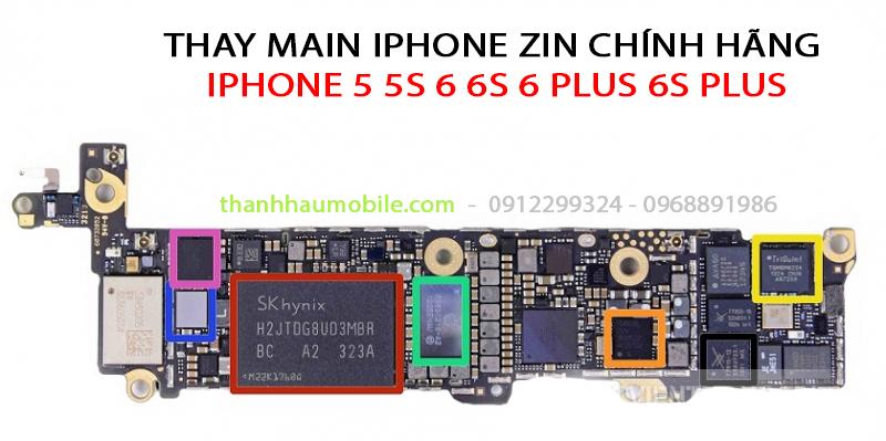 THAY MAIN IPHONE 6 PLUS | Thay main iphone 6+ giá rẻ ở Hà Nội