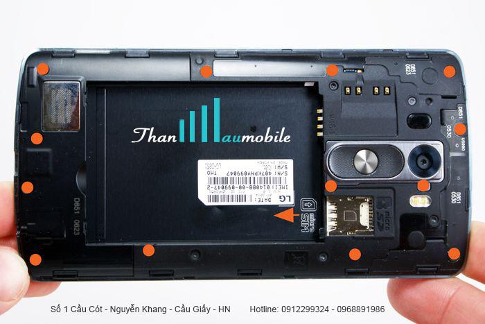 Sửa chữa điện thoại LG G3 mất nguồn (lỗi ic nguồn) lấy ngay ở Hà Nội
