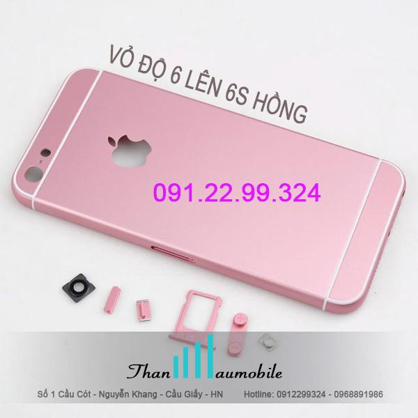Vỏ iphone 6s,6s plus, thay vỏ độ iphone 6 lên 6s hồng, vàng hồng, vàng
