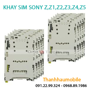 Thay Ổ sim Sony Z4, Z4 2 sim, Z4 2015 2016, Z5, Z5 2 sim, Z5 xách tay
