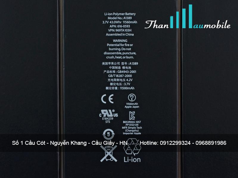 THAY PIN IPAD 4 CHÍNH HÃNG Ở HÀ NỘI | Thanhhaumobile