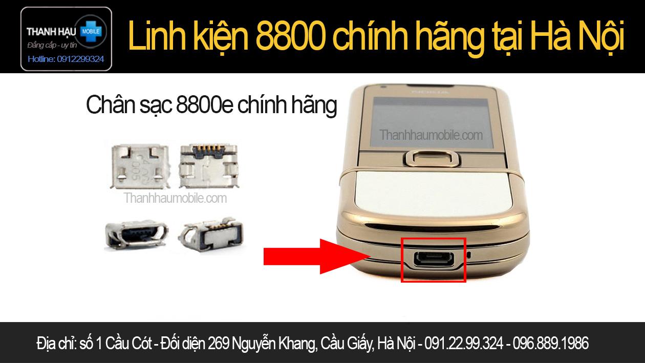 CHÂN SẠC NOKIA 8800E - CHÂN SẠC 8800 GOLD ARTE - chính hãng uy tín