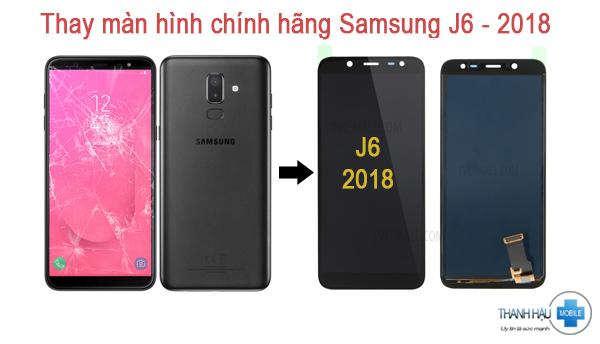 Thay màn hình samsung galaxy j6 2018 ở Cầu Giấy - thanhhaumobile